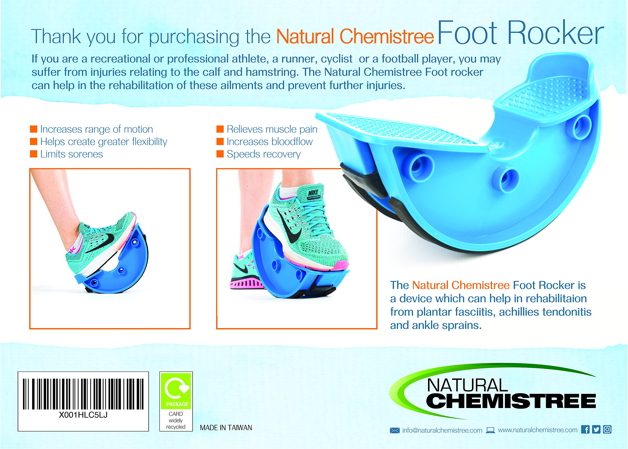 Foot Rocker. Durable Calf Stretcher Device for Achillies Tendonitis. Improve Plantar Fasciitis, Calf Flexibility, Ankle Mobility. Feet and Shin Splint Relief. Great for Physical Therapy, Athletes, Phy by Natural Chemistree (Image #7)