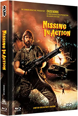 Missing In Action   Uncut (Blu Ray+DVD) Auf 333 Limitiertes Mediabook  Missing In Action Poster