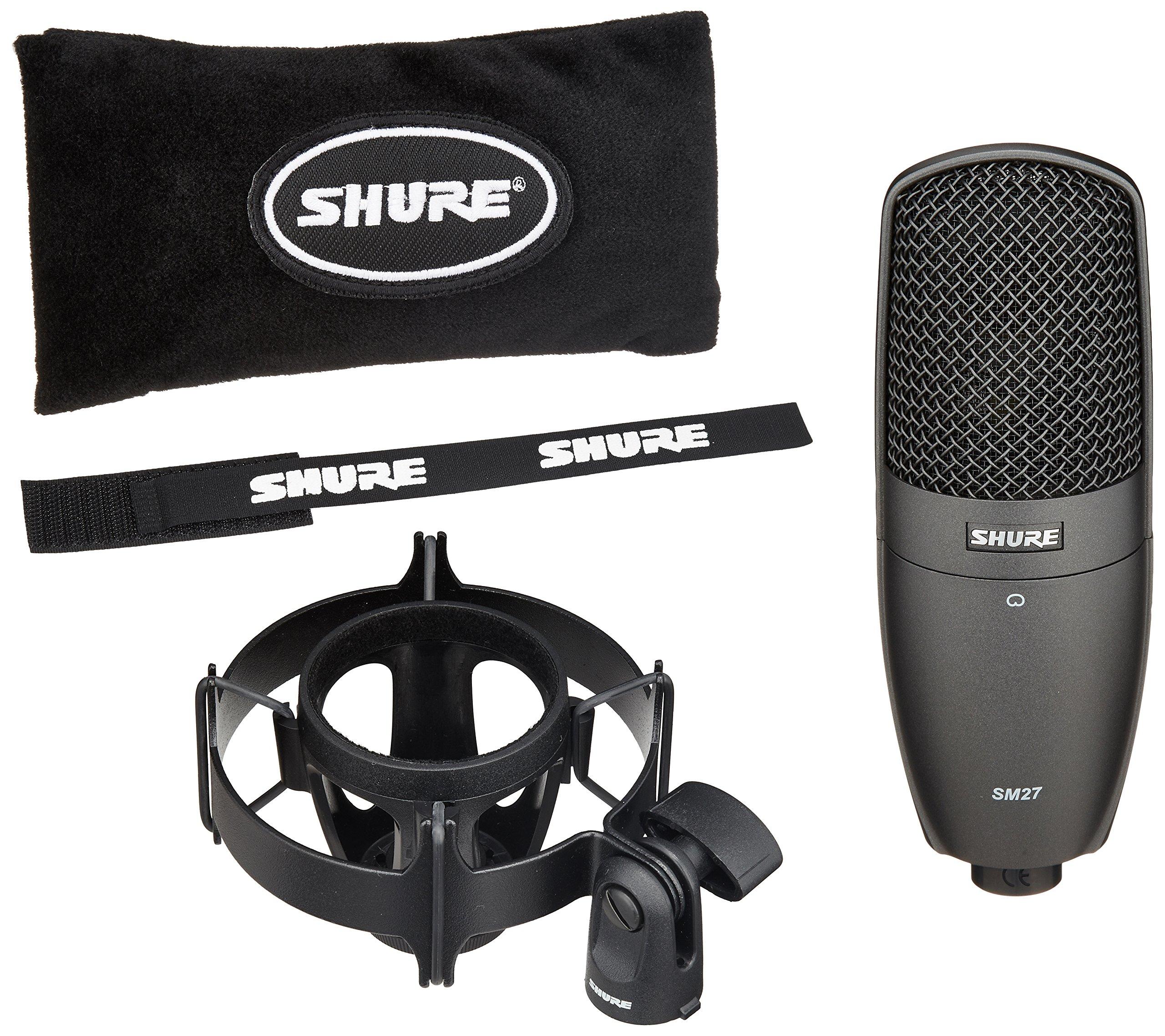 Shure Multi-Purpose Condenser Microphone, Black (SM27-SC) by Shure