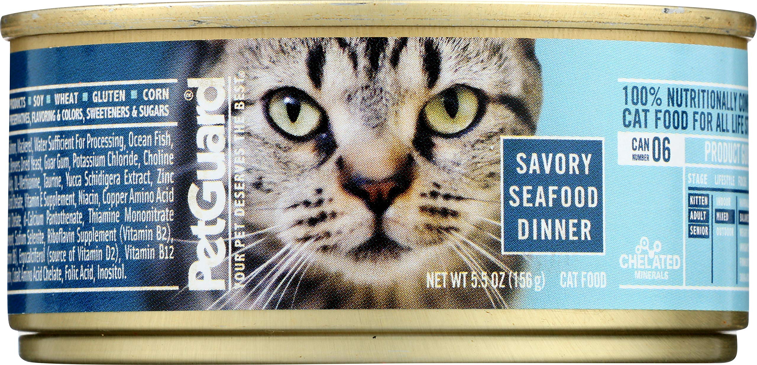 PetGuard Savory Seafood Dinner Canned Cat Food, 5.5-oz, case of 24 by PetGuard