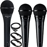 Audix OM7 with 2x Shure PGA58 Dynamic Vocal Microphone Pack with Mic Cables