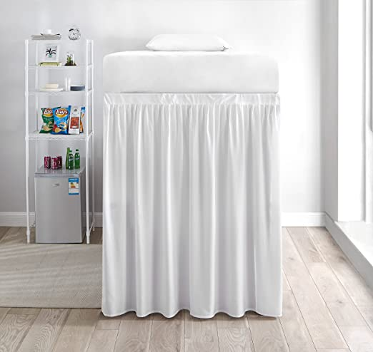 Amazon.com: Extended Dorm Sized Bed Skirt Panel with Ties (1 Panel