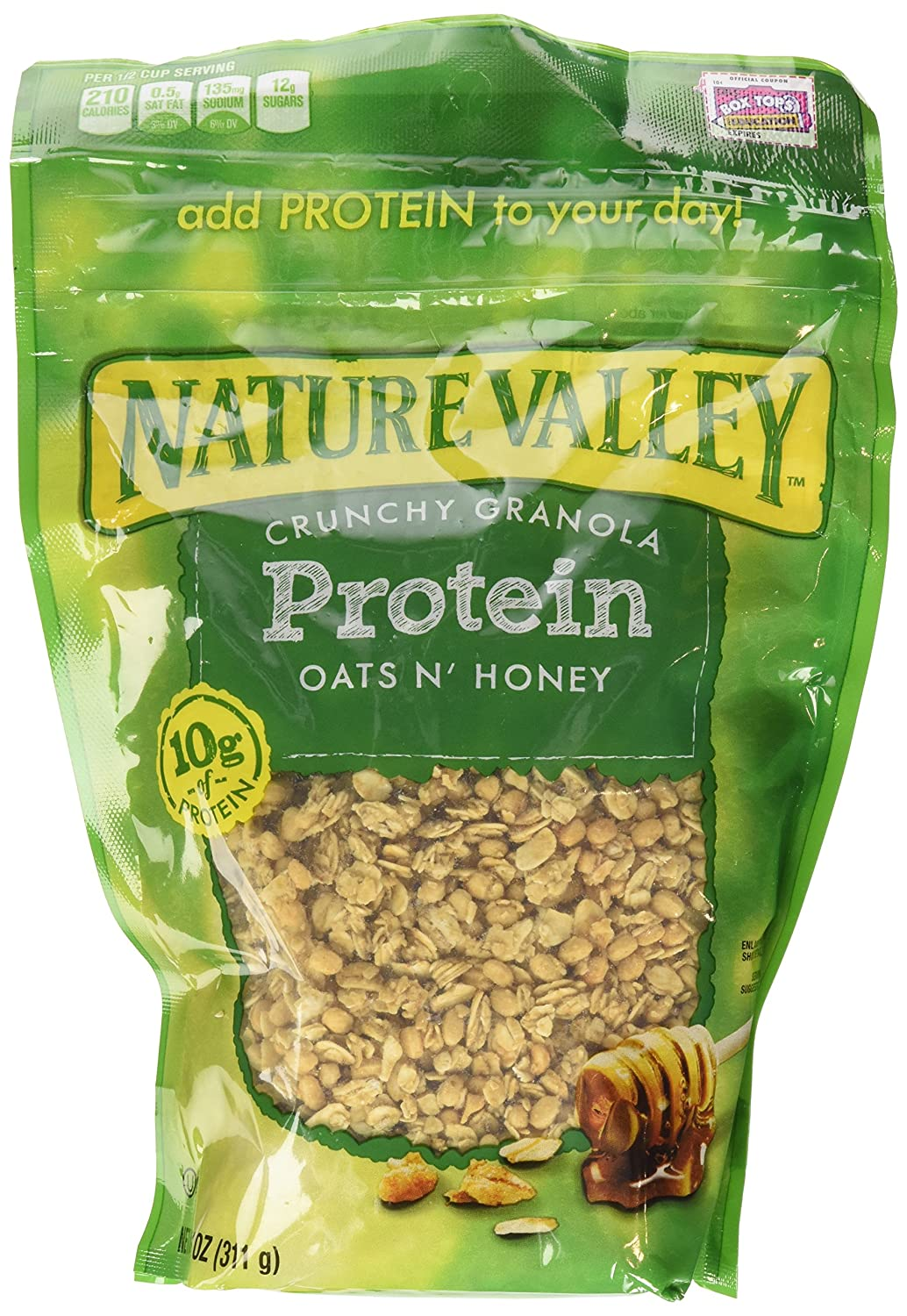 Amazon.com: Nature Valley, High Protein Granola, Oats and Honey, 11oz Bag (Pack of 4): Granola Breakfast Cereals