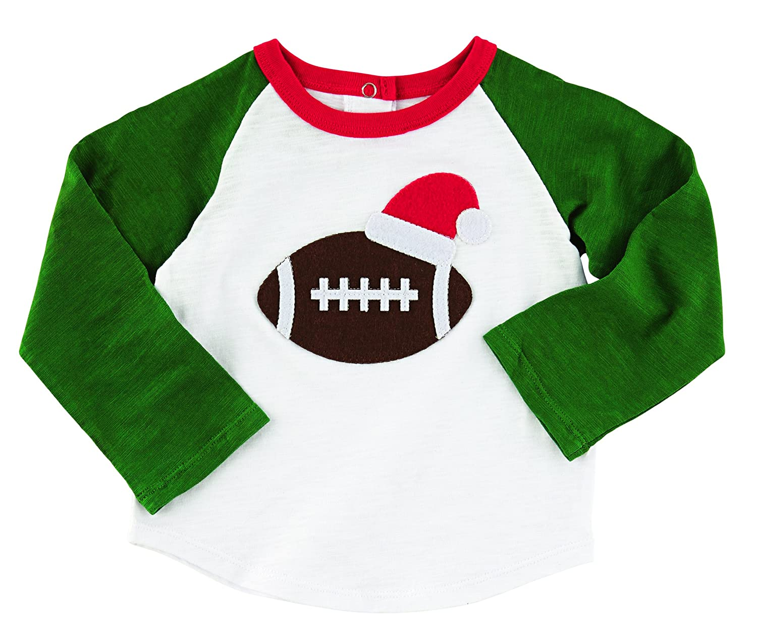 Amazon.com: Mud Pie Little Boys' Christmas Football T-Shirt: Clothing