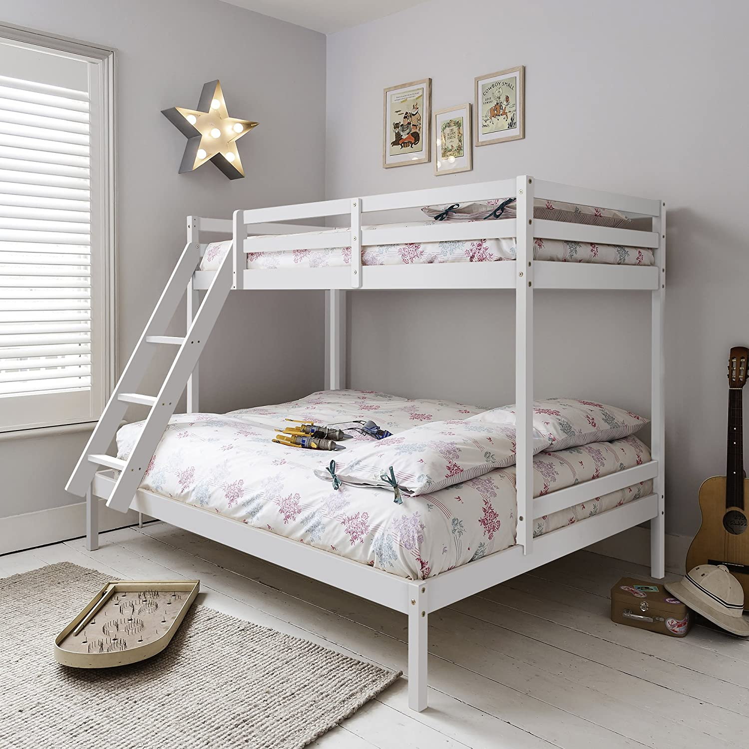 Noa And Nani Kent Triple Bed Bunk Bed White Amazon Co Uk Kitchen Home