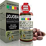 Organix Mantra Jojoba Carrier Oil 30ML, For Acne Prone Skin, Hair Conditioning, 100% Pure, Organic Cold Pressed Oil
