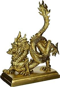 "Oriental Furniture 11"" Chinese Dragon Statue"
