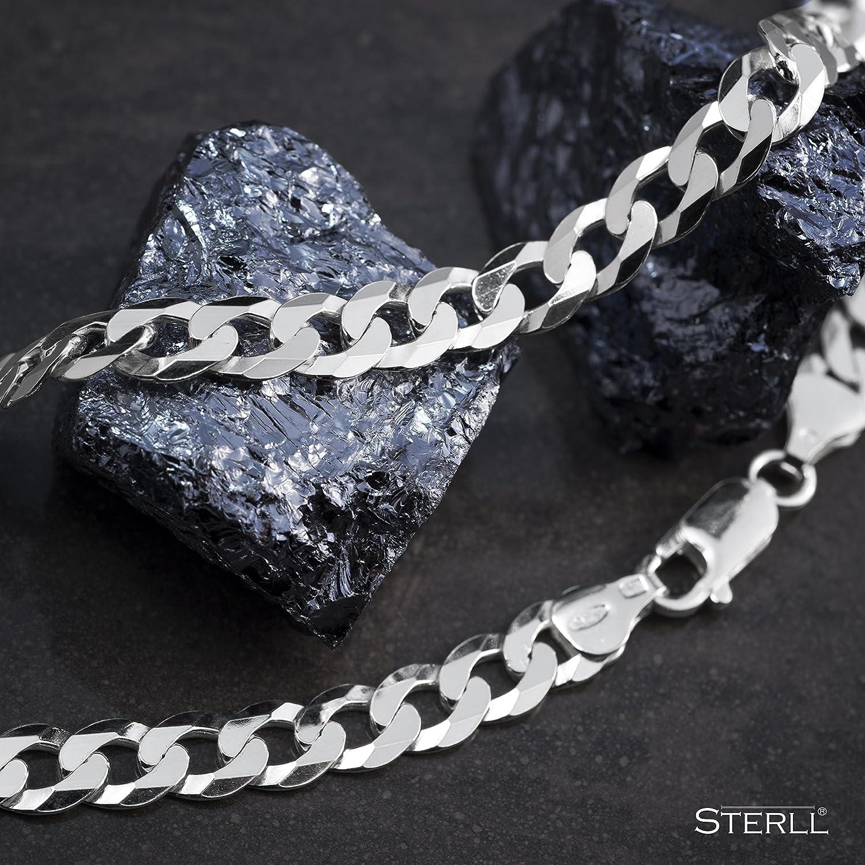 STERLL Cha/îne pour hommes avec une boite /à bijou id/éale comme cadeau pour homme en argent