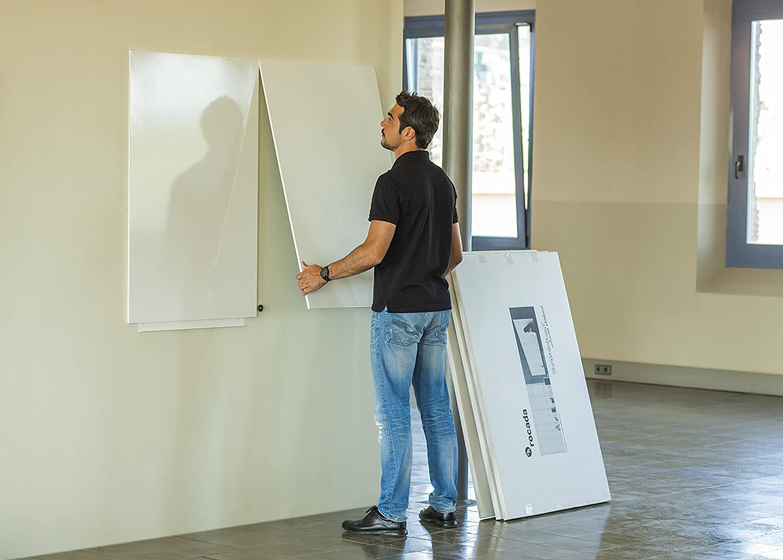Vinilo Pizarra Blanca Magnética (75 x 115 cm Panel): Amazon ...