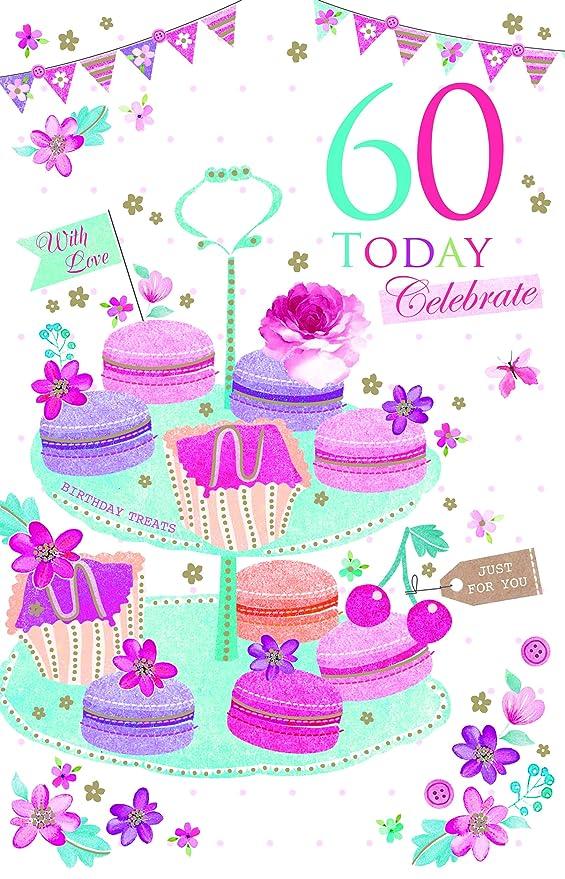 60 hoy celebrar 60th Cupcakes y banderines diseño moderno ...