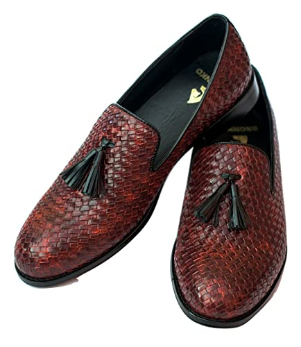 e08192761b Bronnko Cherry Tassel Mens Loafers Formal   Casual Shoes  Buy Online at Low  Prices in India - Amazon.in
