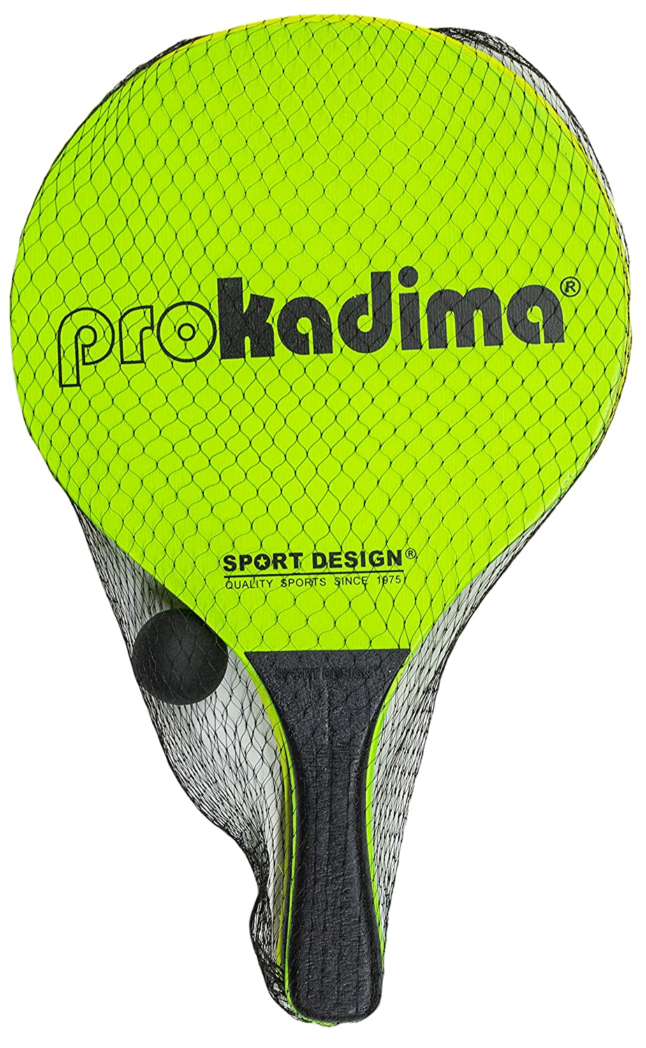 Amazon.com : Pro Kadima Paddle Ball Set (Assorted Colors) (Neon Orange/ Green) : Sports & Outdoors