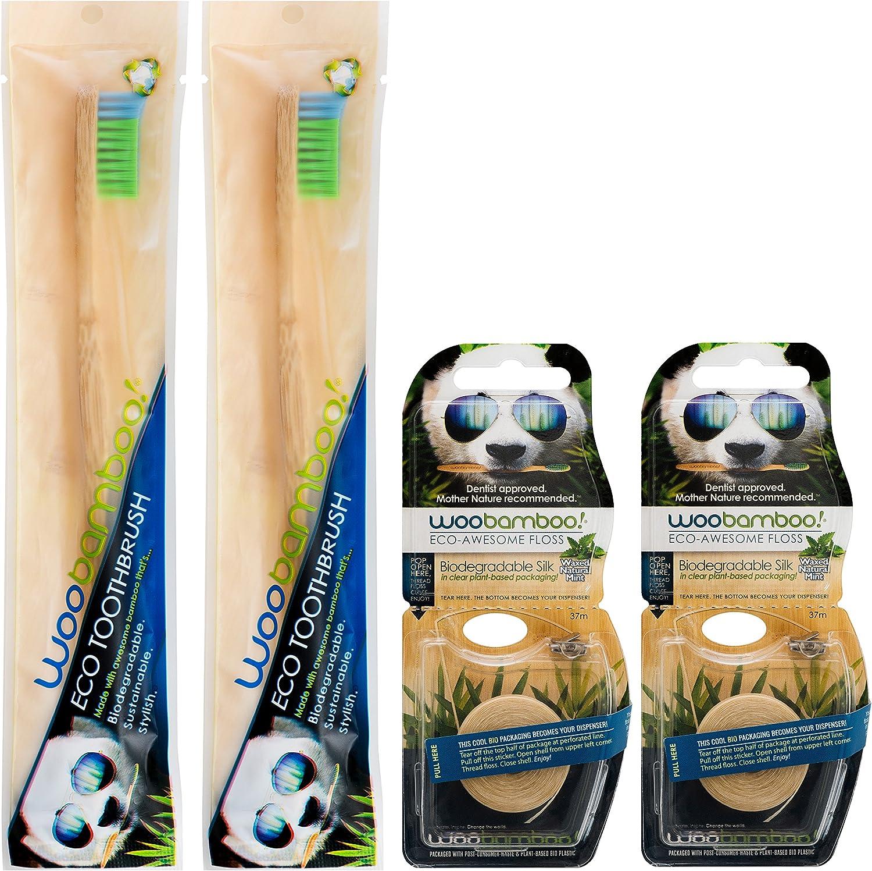 WooBamboo ecológico biodegradable, sostenible, elegante cepillo de ...