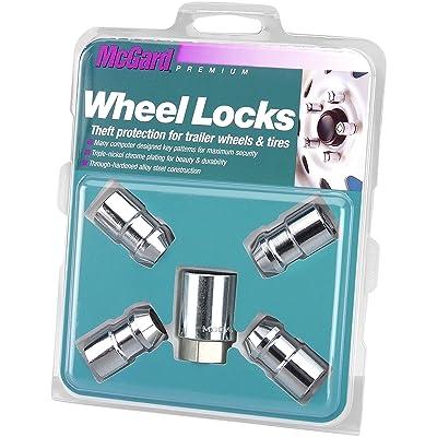 "McGard 74041 Chrome Cone Seat Trailer Wheel Locks (1/2""- 20 Thread Size) - Set of 4: Automotive"