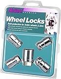 "McGard 74041 Chrome Cone Seat Trailer Wheel Locks (1/2""- 20 Thread Size) - Set of 4"