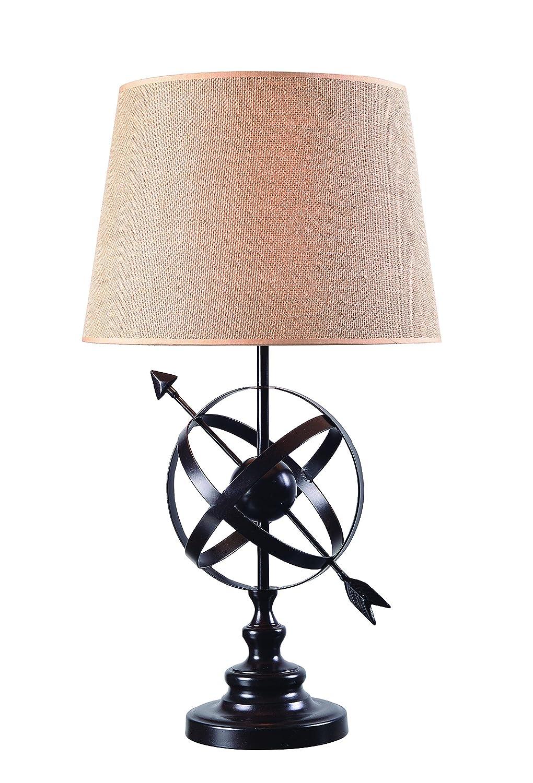 Kenroy Home Armillary Floor Lamp Golden Flecked Bronze Finish