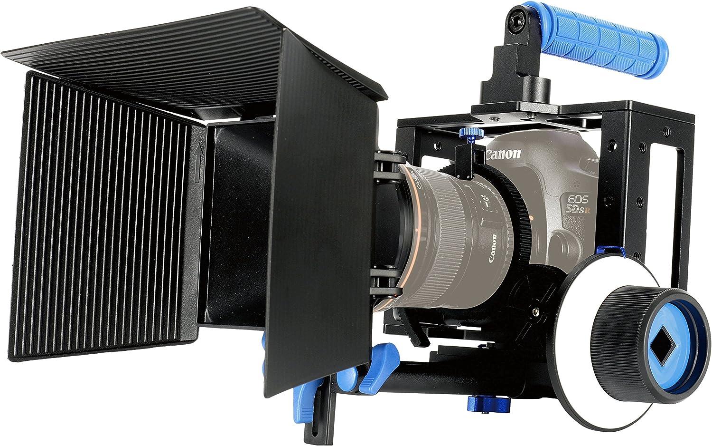 Cámara réflex digital Estabilizador d Jaula Rig Top Handle Agarre Para Canon EOS 5D Mark II 5D2