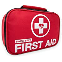 Swiss Safe 2-in-1 120 Piece Mini First Aid Kit + Bonus 32-Piece