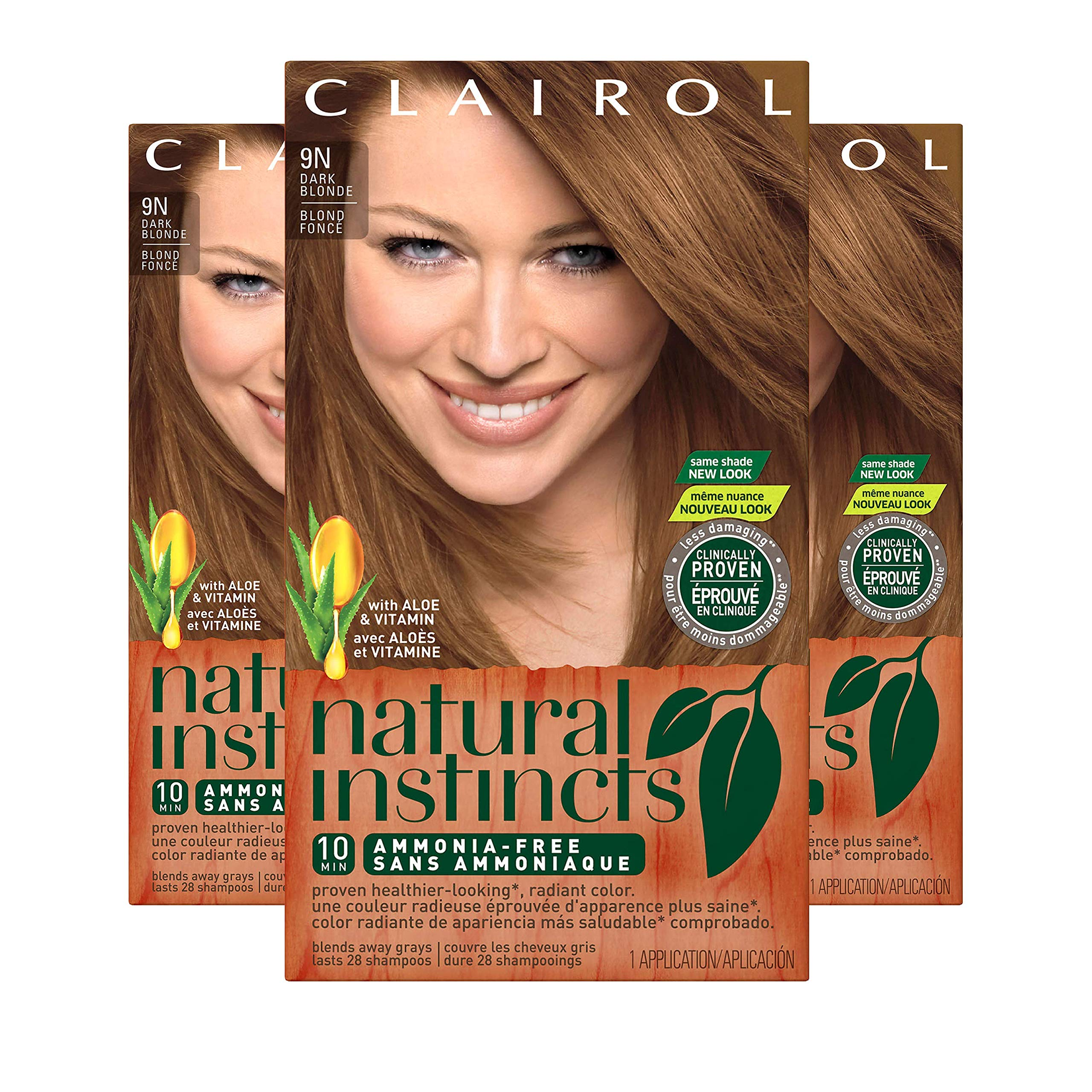 Clairol Natural Instincts Hair Color, Shade 7 9nv/coastal Dune, 3 Count by Clairol