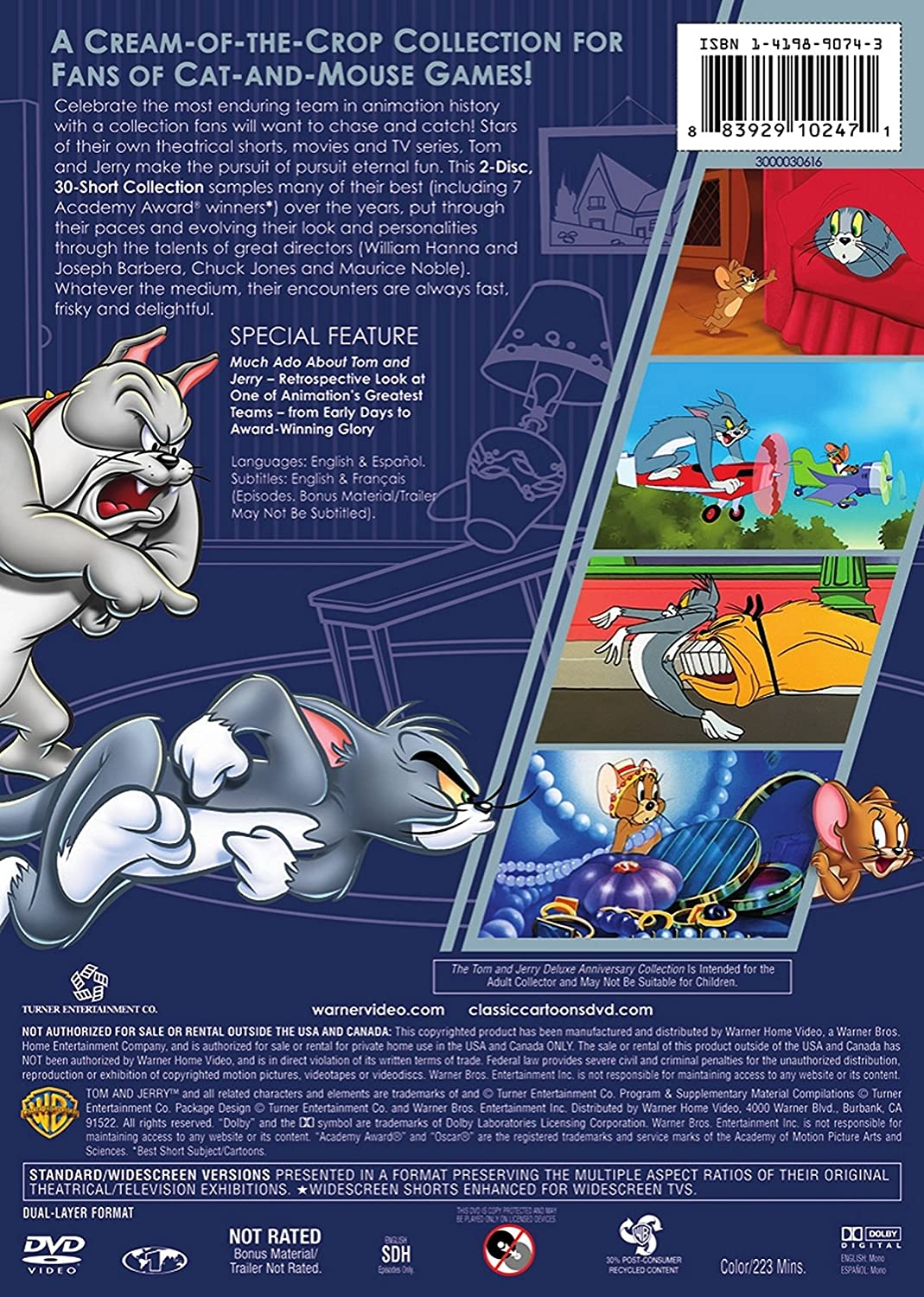 Amazon com: Tom and Jerry Deluxe Anniversary Collection