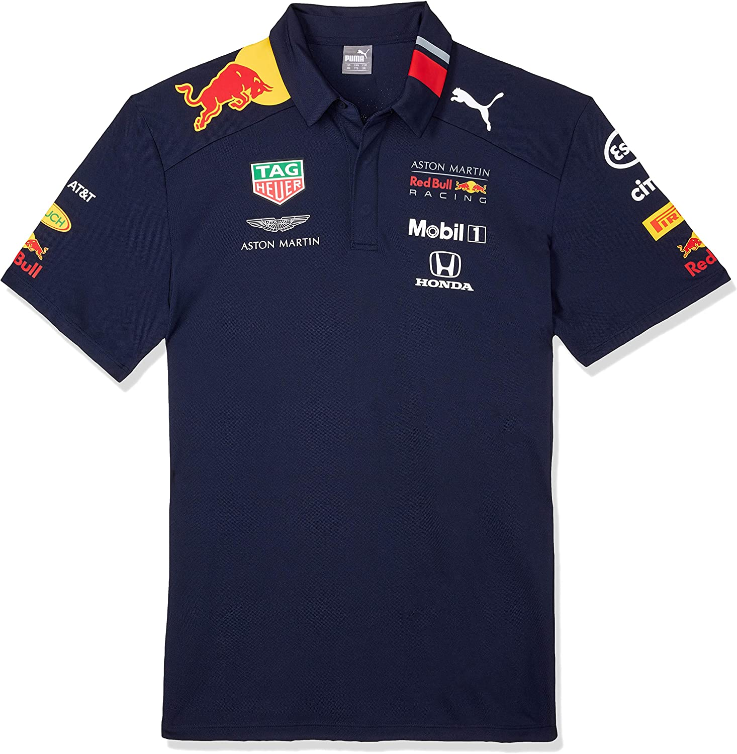 Red Bull Racing Aston Martin Team Polo 2019, M, Azul Navy, Medium ...