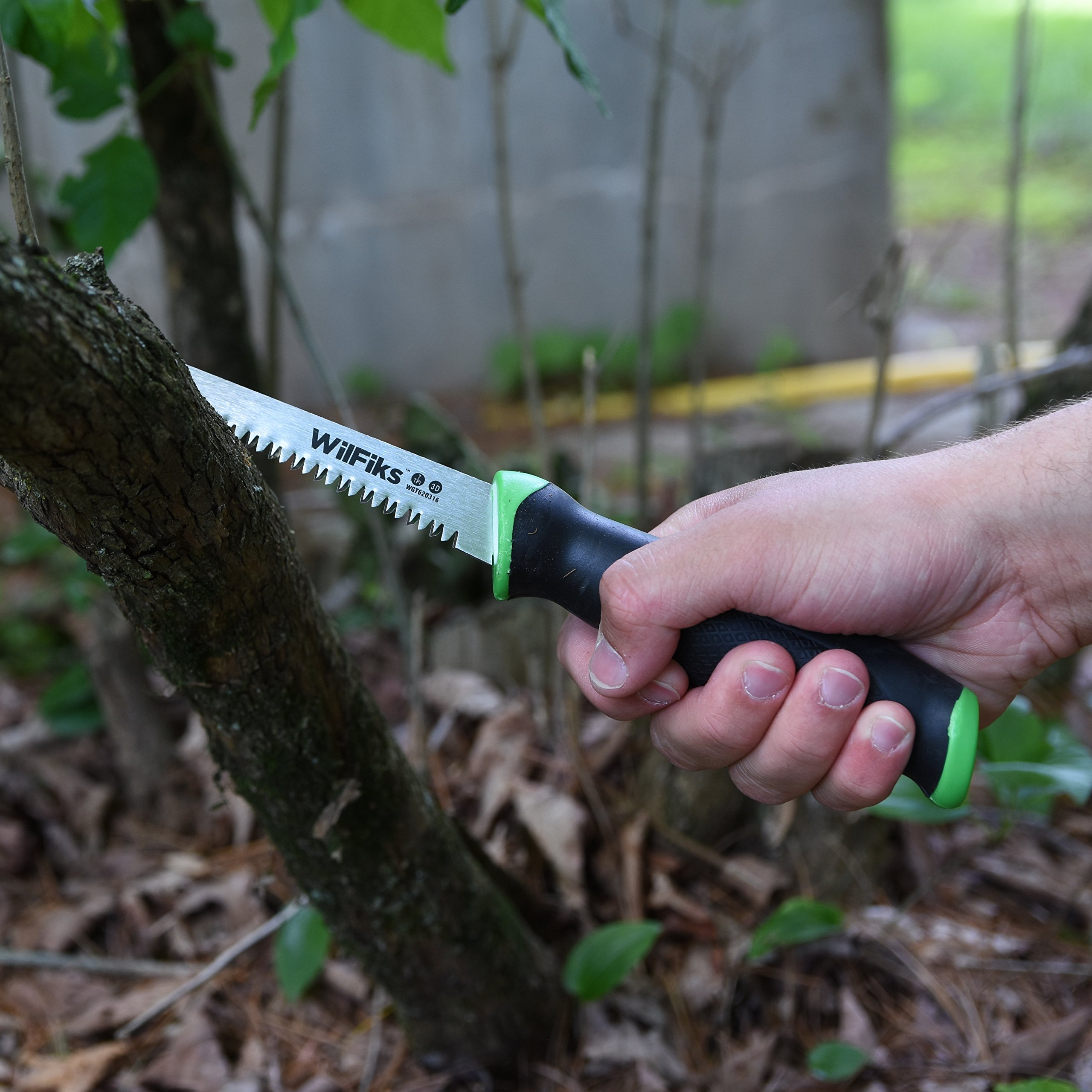 """WilFiks Razor Sharp 6.5"""" Pro Jab Saw, Drywall Hand Saw, Perfect For Sawing, Trimming, Gardening, Pruning & Cutting Wood, Wallboards & More, Comfortable Ergonomic Non-Slip Handle, Has A Sharpened Tip by WilFiks (Image #5)"""