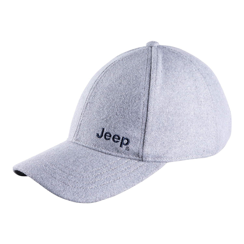 Jeep Cappello in Feltro Uomo J8W Jeep Cappellino con Visiera Anthracite Melange Uni Trere Innovation Srl