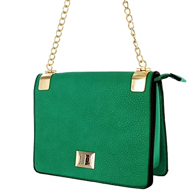 Alyssa Women s Classic Faux Leather Designer Crossbody Shoulder Bag Handbag  Purse  39.99 (Green) dd4e37bbaf879