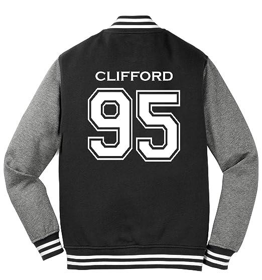81f4c138e4d Adult 5SOS Michael Clifford 2-Sided Varsity Sweatshirt Jacket (X-Small