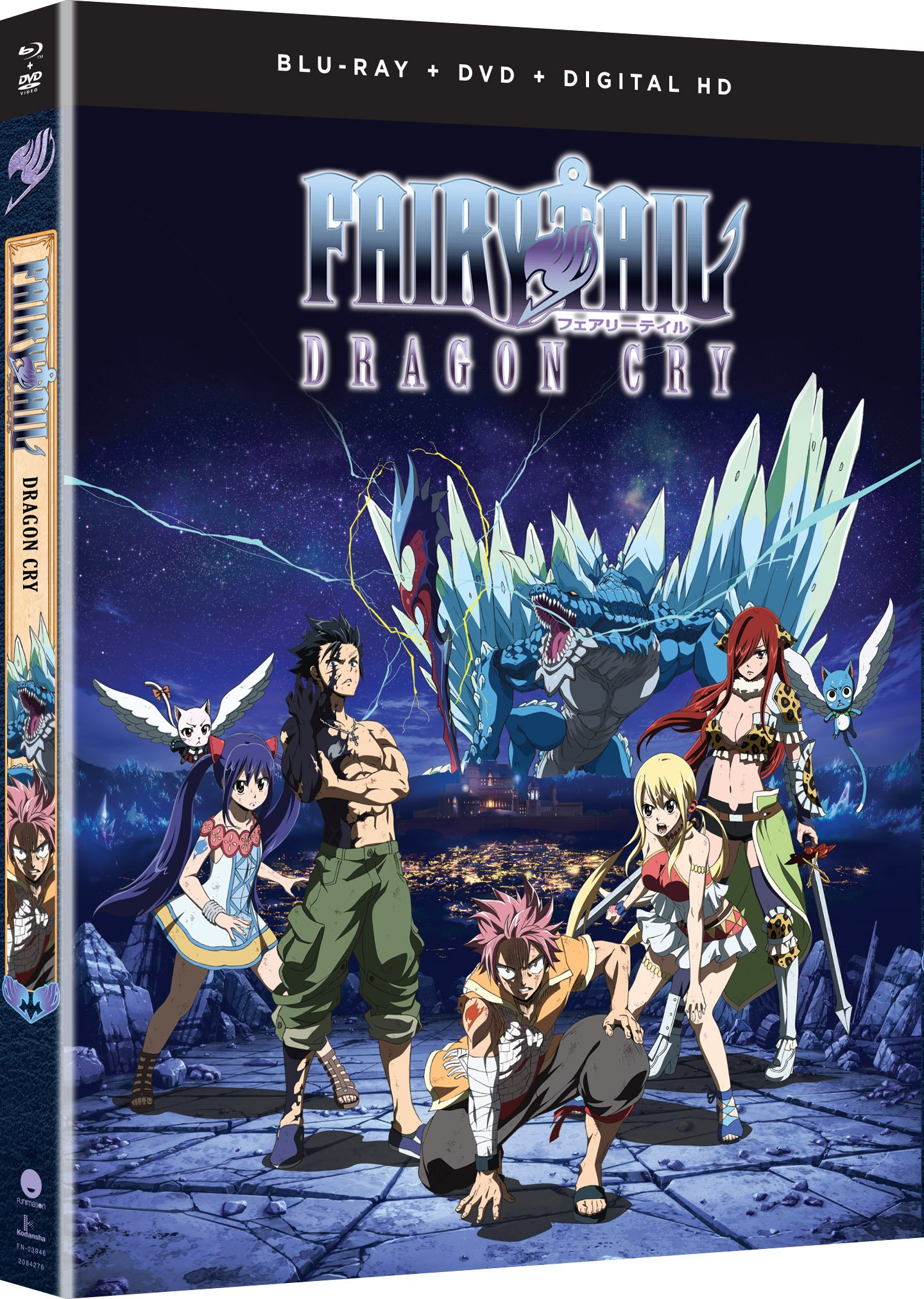 Blu-ray : Fairy Tail: Dragon Cry - Movie (With DVD, Ultraviolet Digital Copy, 2 Pack, 2PC)