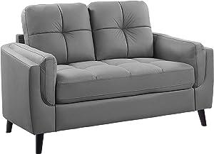 Lexicon Harrisburg Living Room Loveseat, Gray