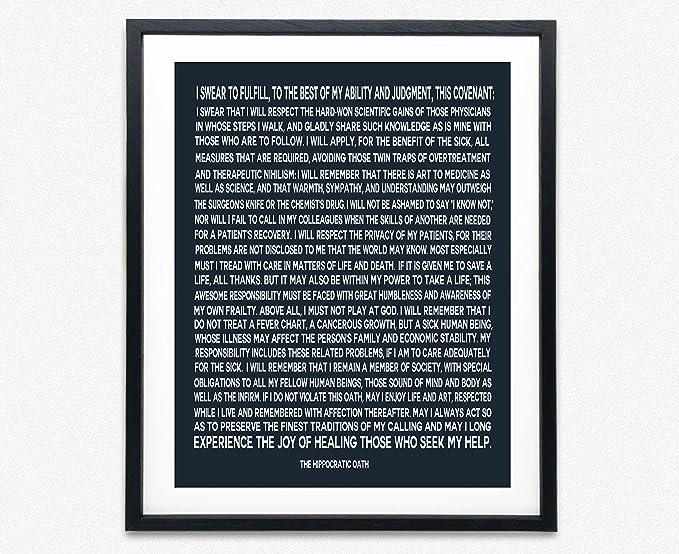 Hippocratic Oath Framed