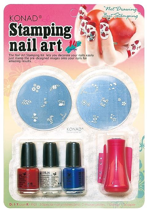 Amazon.com : Konad Set Starter Kit for Stamping Nail Art : Nail Art ...