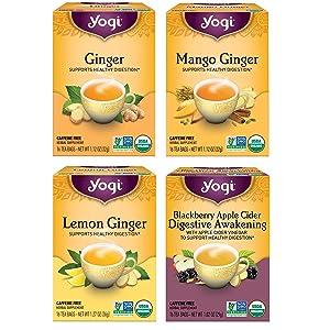 Yogi Tea - Ginger Teas - 4 Pack, 64 Tea Bags