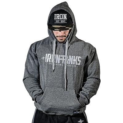 Iron Tanks Hulk Fleece Pullover Hoodie V2 Grey - Mens Bodybuilding Jumper Fleece Cotton Workout Gym