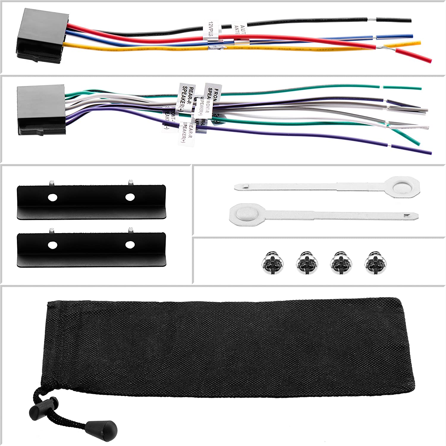 Boss Audio 812uab Double Din Mech Less No Cd Or Dvd 1761 Radio Wiring Harness For Toyota 87up Power 4 Speaker Shopstak Player Receiver Bluetooth Detachable Front Panel Wireless Remote Car Electronics