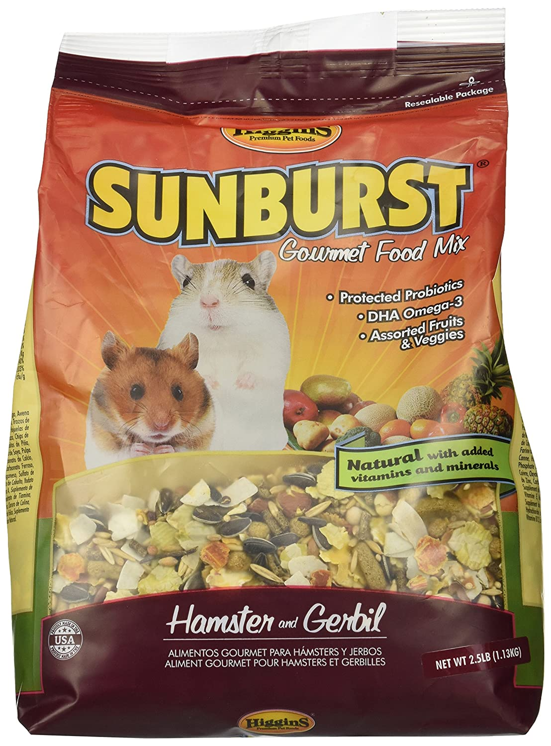 Higgins Sunburst Gourmet Food Mix for Hamsters & Gerbils 56303