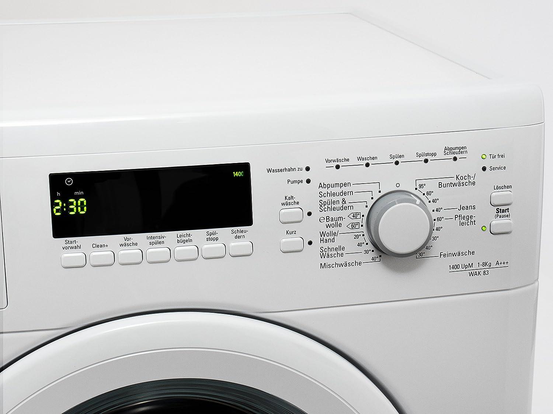 Bauknecht wak waschmaschine fl a kwh jahr upm