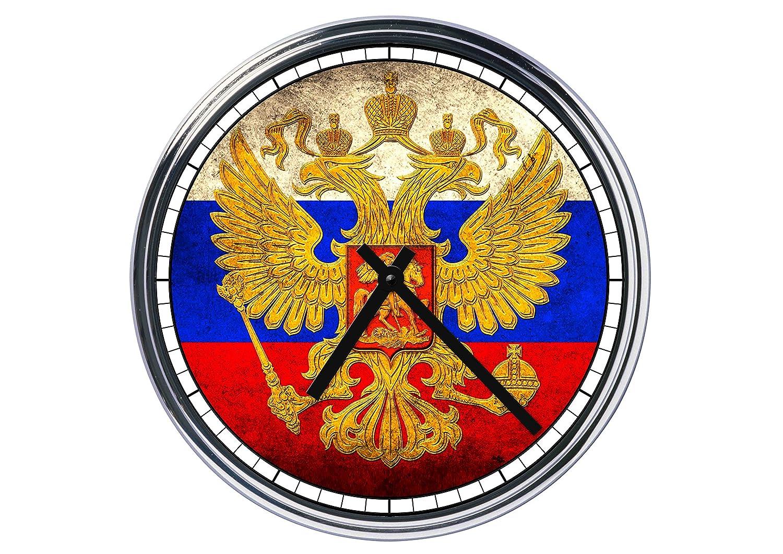Wanduhr Wanduhr Wanduhr Mit russische Flagge 2 00f10e