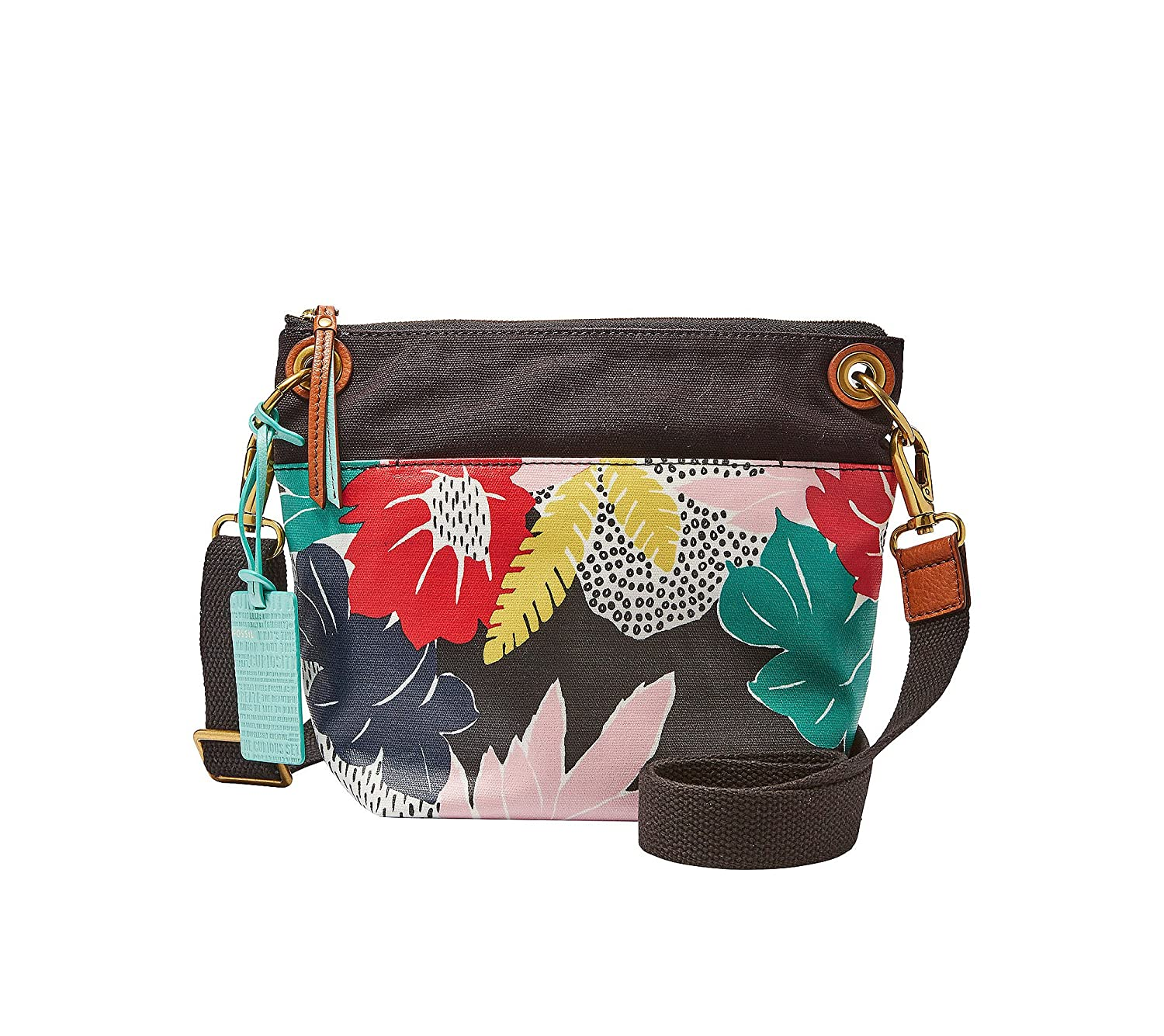 Fossil Womens Keely Crossbody Floral Bag Tote Canvas Clothing
