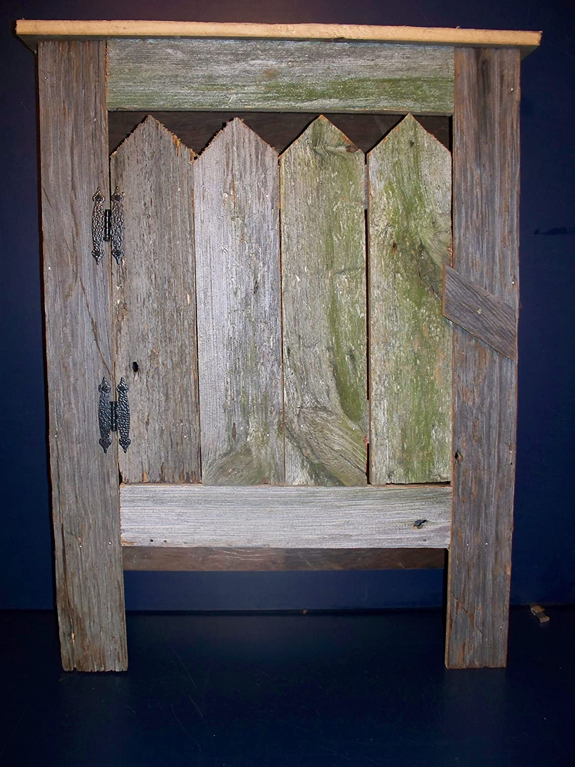Amazon.com: Old Barn Wood Cabinet. This Simple, Yet Striking Piece Of Old Barn  Wood Furniture Will Look Great In A Country Kitchen Decor Or Any Room In  Your ...