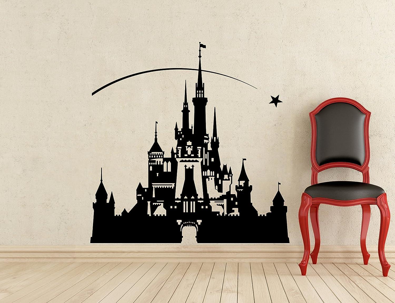 Disneyland Castle Wall Decal Nursery Vinyl Sticker Home Art Wall Decor Mural Removable Waterproof Decal (326z)