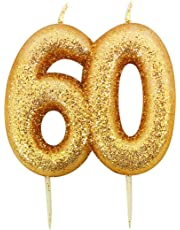 Gold Number Candle - 60