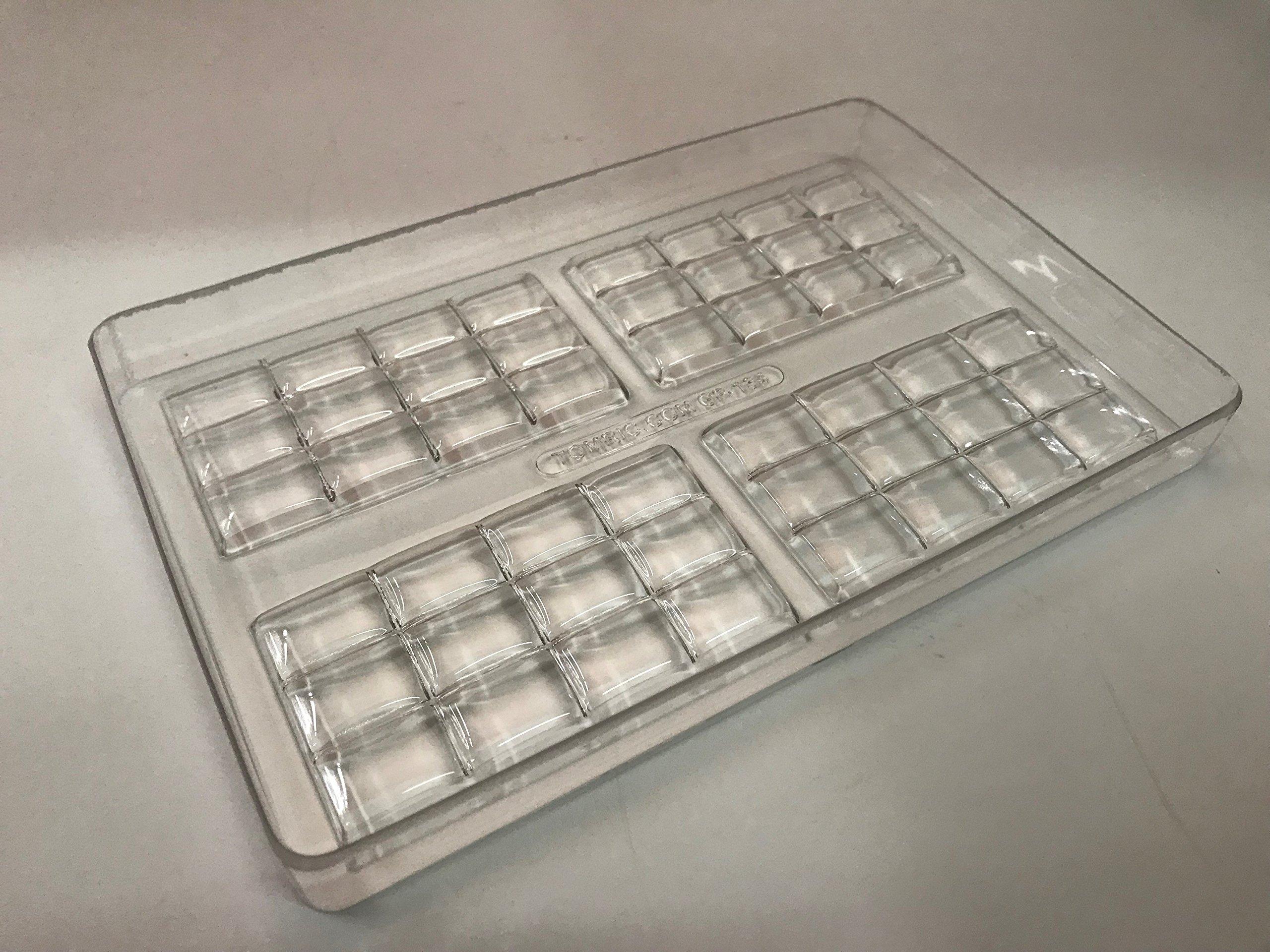 Polycarbonate Bar Mold for Chocolate (Pillow Top Bar Design)