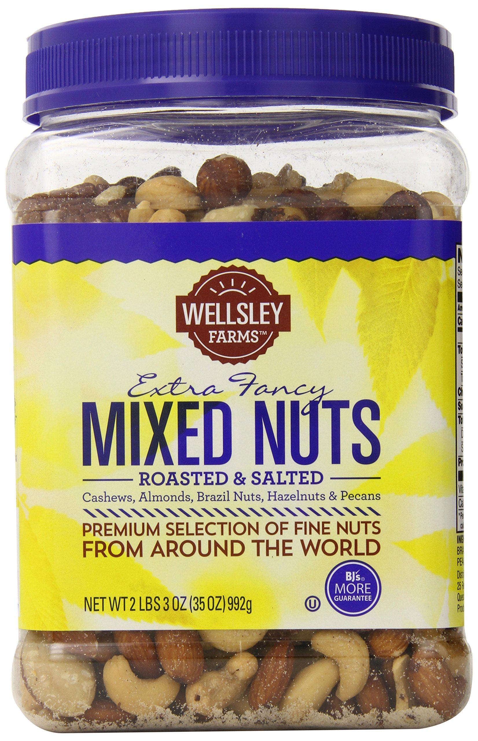 Wellsley Farms Extra Fancy Roasted and Salted Mixed Nuts, 35 Ounce
