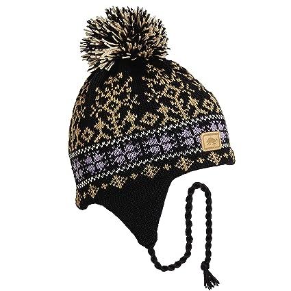 27b3631dde4caa Amazon.com : Turtle Fur Indy, 100% Wool Knit Classic Ski Hat Black ...