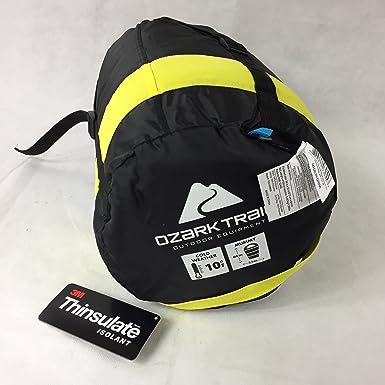 Ozark Trail 10 grados adultos Thinsulate portátil saco de dormir