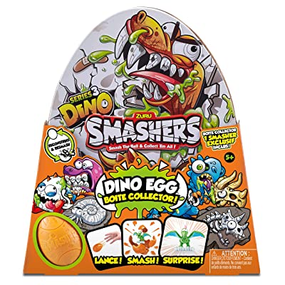 Smashers Super Egg Collectible Tin with Exclusive Series 3 Dino by ZURU: Toys & Games
