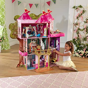 KidKraft Storybook Wooden Mansion with 14 Pieces of Furniture
