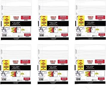 Five Star Filler Paper 100 Sheets and Loose Leaf Paper 10.5 x 8 100 Sheets Bundle 11 x 8.5 Loose Leaf Paper